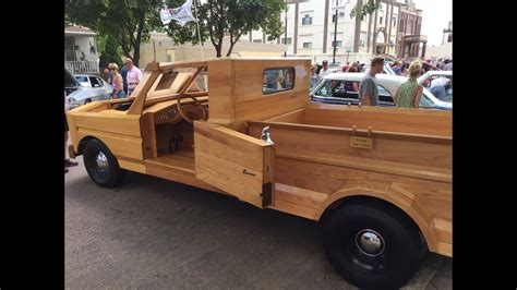 crazy cool  wood truck hand built  garage automotive