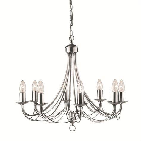 Decorative Silver P 8 maypole decorative ceiling light 8 light satin silver
