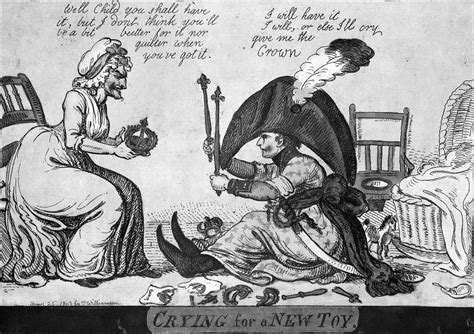 Toy Chair File Napoleon Nappy Crying For A New Toy 1803 Caricature