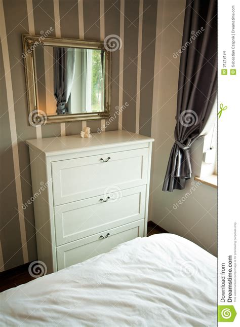 mirror cabinet bedroom bedroom cabinet with drawers and mirror stock photo