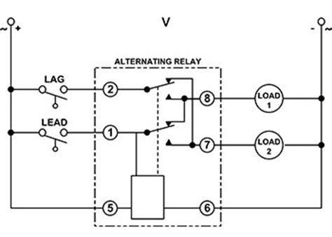 alternating relays for pumps wiring diagrams wiring
