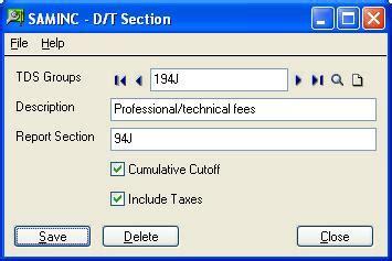 tds deduction section tds cumulative cut off deduction sage 300 erp tips