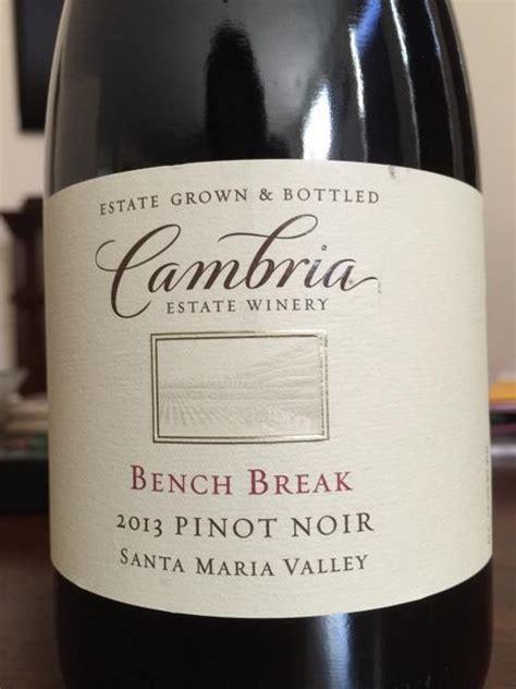 bench pinot noir 2015 2014 cambria pinot noir bench usa california