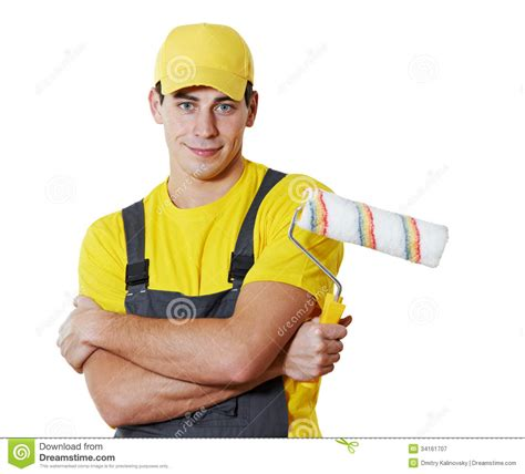 paint man house painter portrait royalty free stock photography