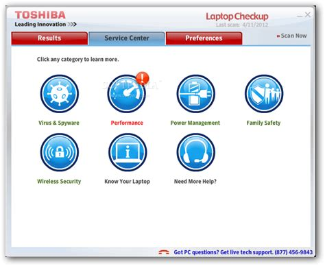 toshiba laptop checkup