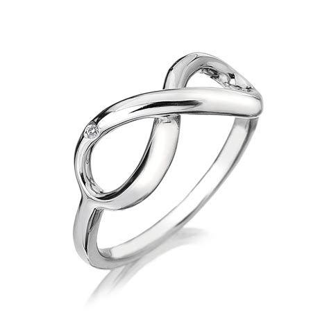 diamonds sterling silver infinity ring dr144