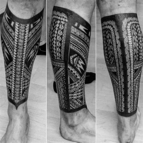 maori leg tattoos for men 40 polynesian leg designs for manly tribal ideas