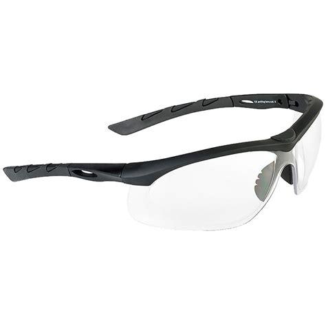 eye rubber st swiss eye lancer sunglasses clear lens black rubber