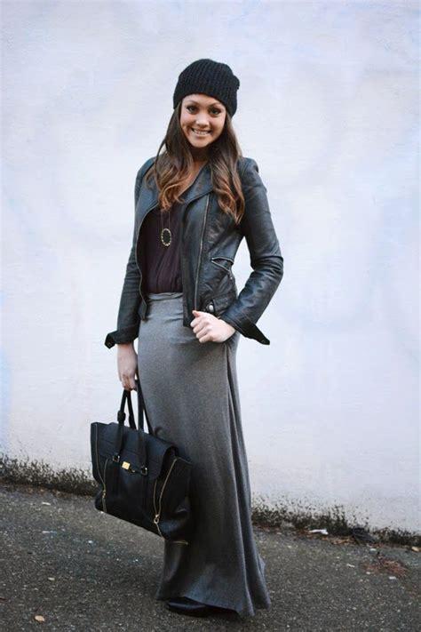 maxi skirt for fall grey maxi skirt moto jacket