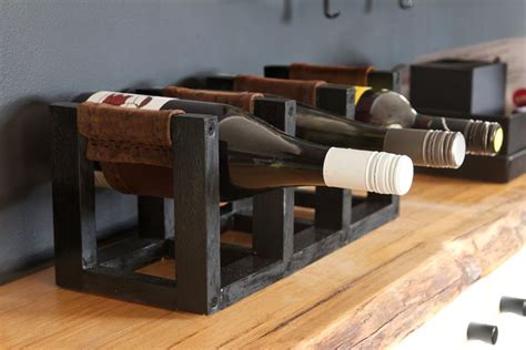 leather wine rack diy wine rack with leather sling