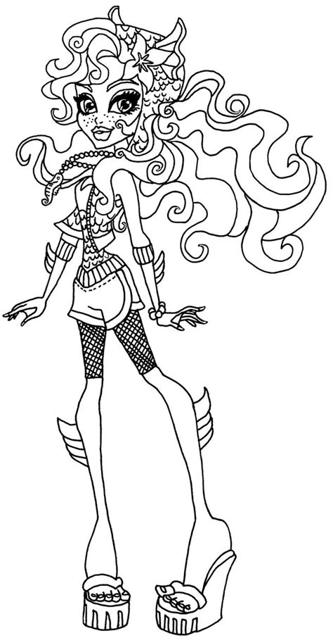 monster high lagoona coloring pages getcoloringpagescom