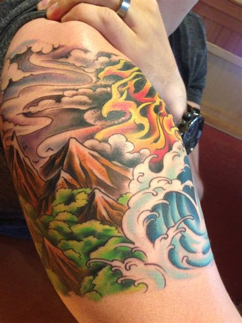freakshow tattoo four elements representing the balance of all
