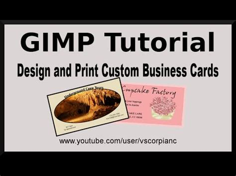 make my own business cards and print gimp tutorial design your own business cards for