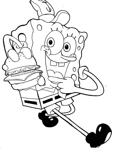 printable spongebob squarepants coloring pages coloring me
