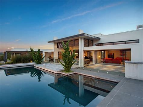 modern home design with pool contemporary home in the hills