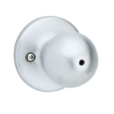 kwikset polo satin chrome bed bath knob 300p 26d 6al rcs