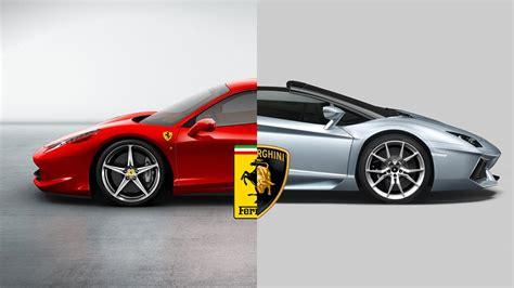 World Versus   Ferrari vs Lamborghini