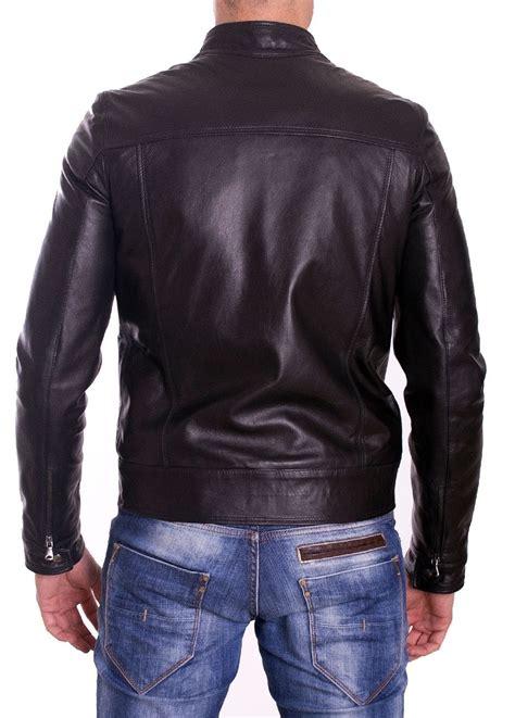 Handmade Leather Jacket - handmade leather jacket s slimfit black biker