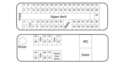 double decker bus floor plan seating plan berrys coaches