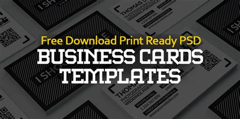ready made business card templates free business cards psd templates print ready design