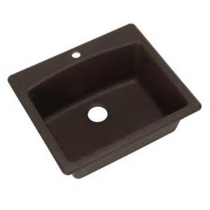 Dual Mount Kitchen Sink Frankeusa Dual Mount Composite Granite 25x22x9 1 Single Bowl Kitchen Sink In Mocha