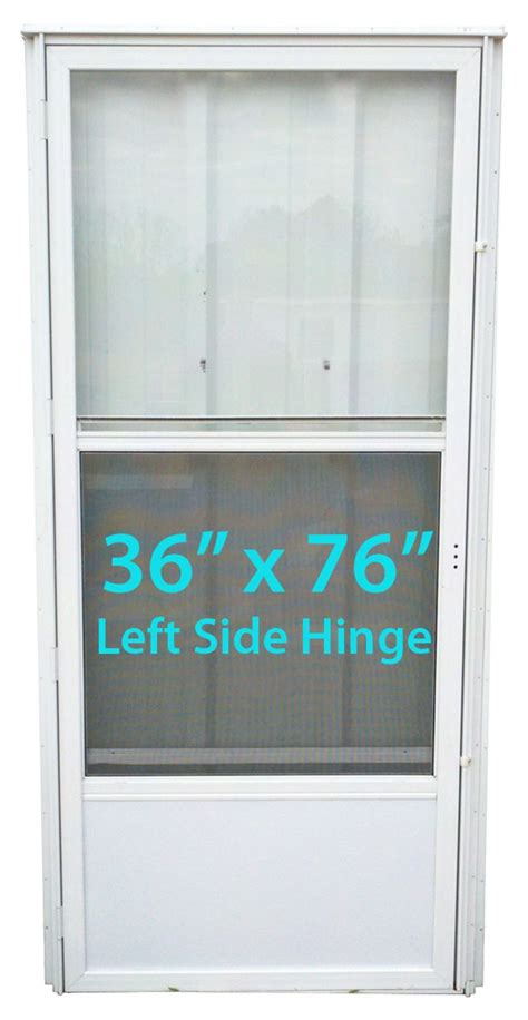 mobile home standard door 36x76 lh white with screen