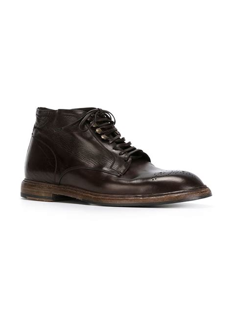 dolce gabbana marsala brogue boots in brown for lyst