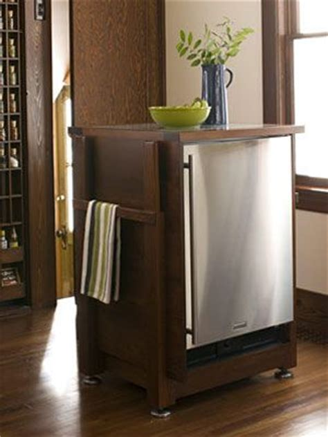 Cabinet For Mini Refrigerator by How To Transform A Small Kitchen