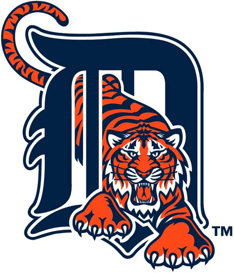 Kaos Baseball Detroit Tiger Logo 3 detroit tigers primary logo 1994 orange tiger walking