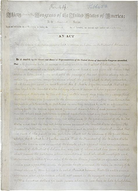 printable version of emancipation proclamation the district of columbia emancipation act