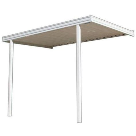 Patio Covers At Home Depot Metals Building Products 12 Ft X 8 Ft Aluminum Attached
