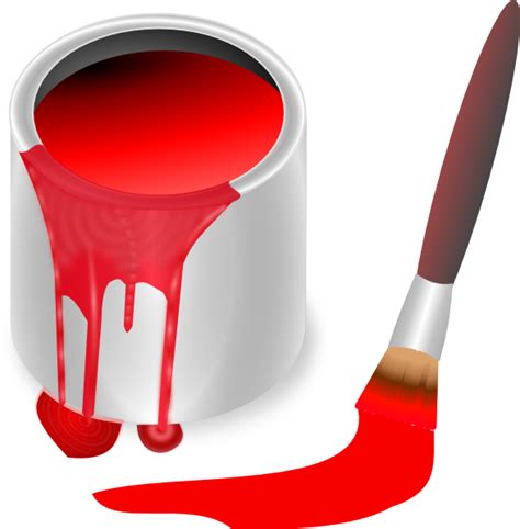 red paint red paint brush and can clip art at clker com vector
