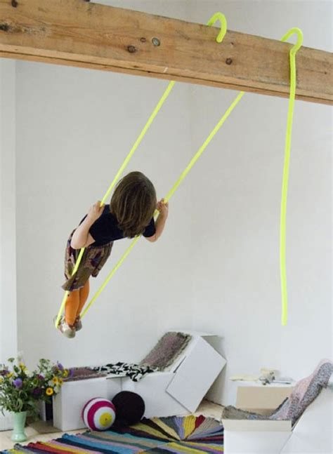 how to hang swing from ceiling 12 ideas for indoor play handmade charlotte