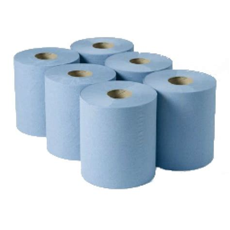 Centre Feed Roll   1 Ply   Blue 300m x 6