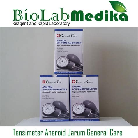 tensimeter aneroid jarum general care biolab medika