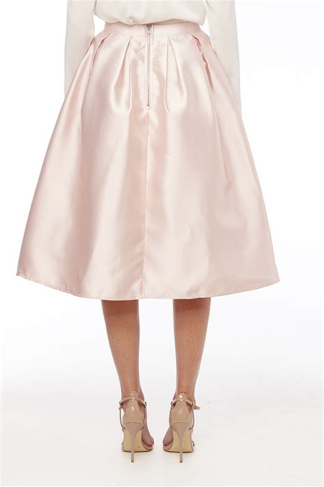 maniju satin midi skirt with pockets from mexico by pink