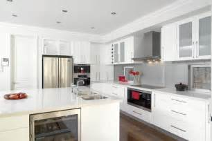 Shiny white kitchen cabinets los angeles