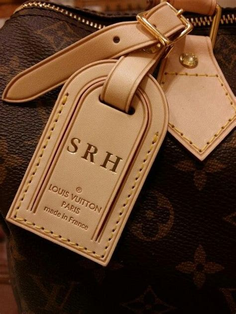 monogram louis vuitton luggage tag  speedy  handbag