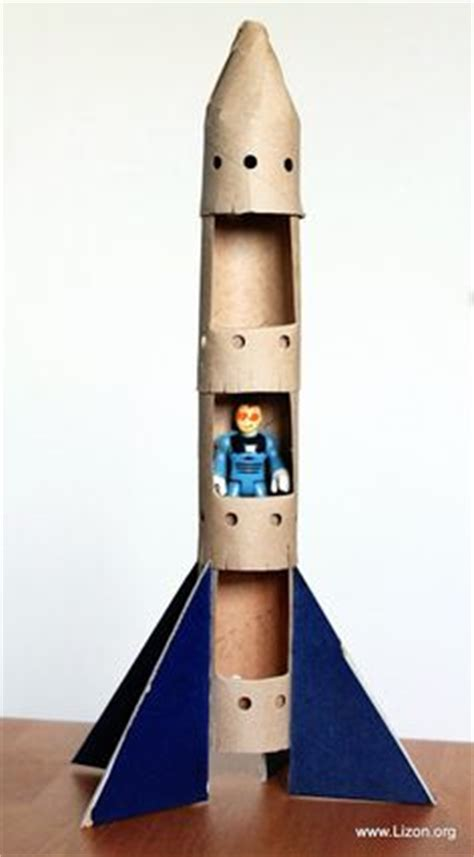 How To Make Rocket Model With Paper - 1000 ideas about cardboard rocket on diy