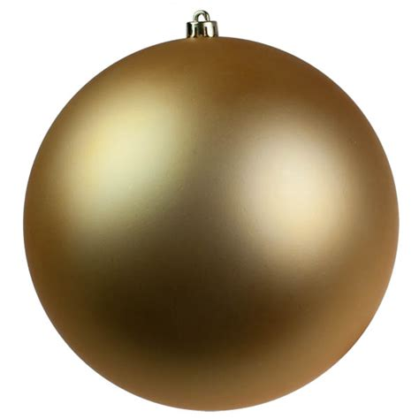 gold shatterproof baubles single 300mm matt baubletimeuk