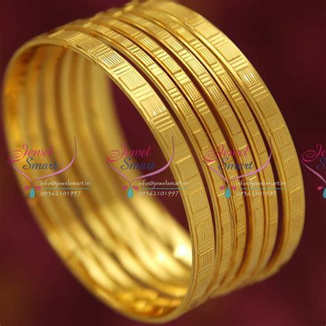 b5033s 2 4 size 6pcs set bangles one gram gold design