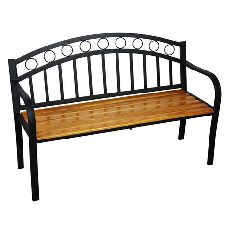 metal and wood garden bench astonica 50140961 outdoor jasper metal and wood garden