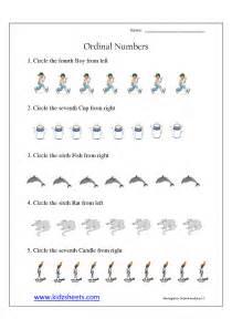 kidz worksheets kindergarten ordinal numbers worksheet5