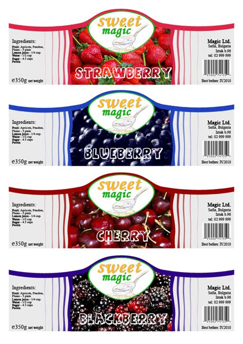 design ideas for jelly labels jam jars labels on behance