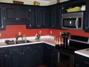 black kitchen cabinets what color on wall black cabinets red walls kathy s red hot kitchen pinterest red kitchen cabinets and