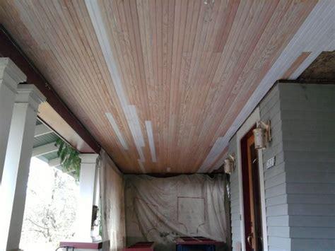 v notch bead board ceiling looking good old school