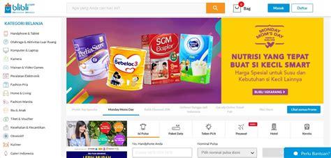 blibli toko online 10 situs belanja online terbaik dan terpercaya di indonesia