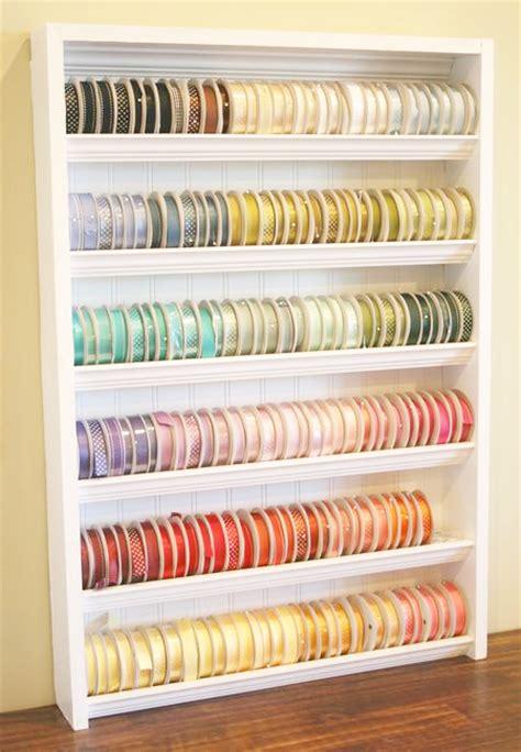 pocket wonders diy ribbon organizer shelf