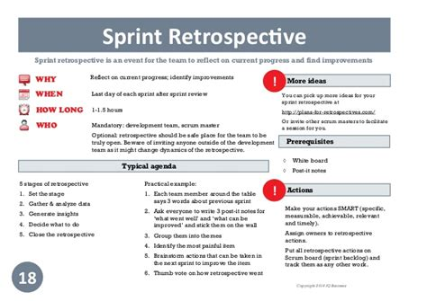 Sprint Retrospective Meeting Template practical guide to scrum