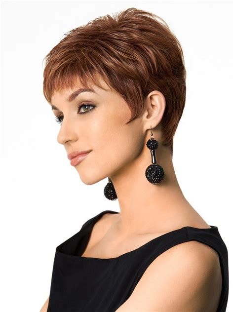 synthetic straight pixie cut women capless hair wigs
